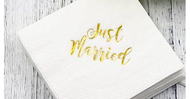 serviette mariage